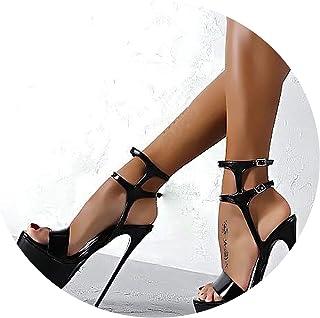 89e3d5bfcdd Fashion Womens Shoes Peep-Toe Pumps Sexy 16CM Super High Heels