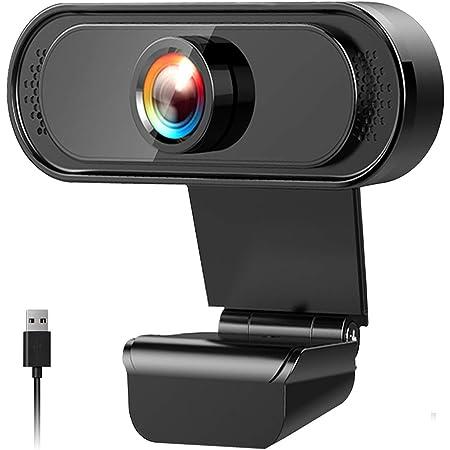 Webcam 1080P Full HD con Microfono Stereo,Webcam PC Laptop Desktop Computer USB 2.0 , per YouTube, Gaming Twitch, PC/Mac