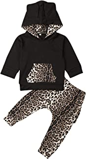 mettime Newborn Baby Girl Hooded Sweatshirt & Leopard Pants Infant Hoodies Coat Jackets Outfits