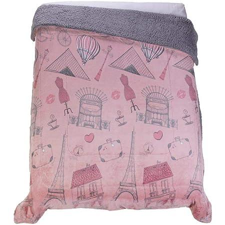 Colchas Concord Francesa Cobertor de Borrega, Rosa, Matrimonial 1.80 X 2.20 Mts.