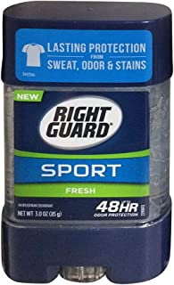 Right Guard Sport Antiperspirant and Deodorant, Clear Gel, Fresh, 3 Ounce (Pack of 4)