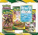Pokemon Pack 3 boosters-Epée et Bouclier-Evolution Céleste (EB07) société-Jeu de Cartes à Collectionner (Modèle aléatoire), 3PACK01EB07