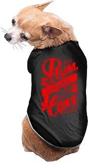 Rum And Coke Fashion Logo Dog Coats Pet Clothing Cute