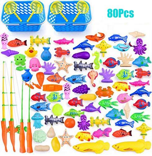 Kinder-Pool Angeln Spielzeug Spiele Schwimm Spielzeug Pole Rod Fisch-Netz Wasserspiegel Badewanne Bad Spiel Lernen Bildung for Alter 3 4 5 Jungen Mädchen Kleinkinder