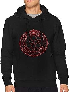 JoshuaHenderson Men's Pullover Hoodie Mans Activewear Sweatshirt Black Gift