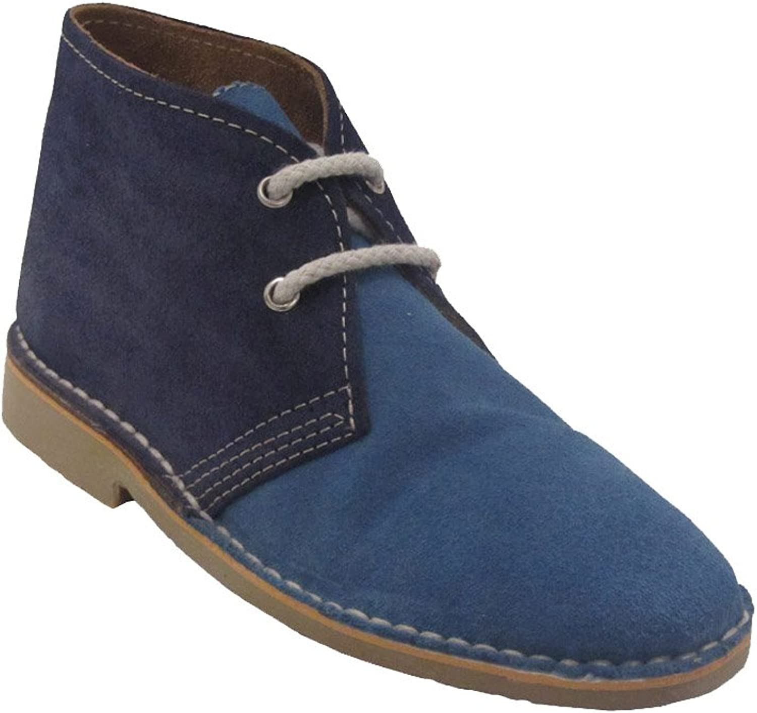 La Auténtica K1002C - Desert Boot Italian tip with Two colors, Unisex Adult, bluee Night - Navy bluee