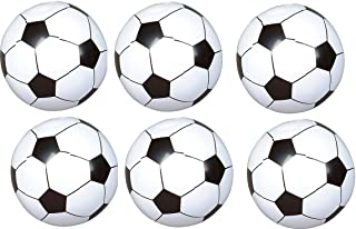 (24) Soccer Ball Inflates - Approx 8'' - Sports Birthday Parties - Inflatable Favors Decor Prize giveaway BEACHEBALLS Pool Play Toy outdoor - Team Coach League