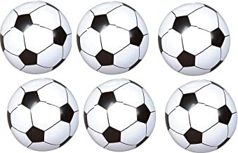 rnixed (24) Soccer Ball Inflates - Approx 8'' - Sports Birthday Parties - Inflatable Favors Decor Prize BEACHEBALLS Pool Play Toy Outdoor - Team Coach League