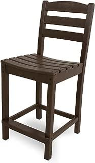 POLYWOOD TD101MA La Casa Café Counter Side Chair, Mahogany