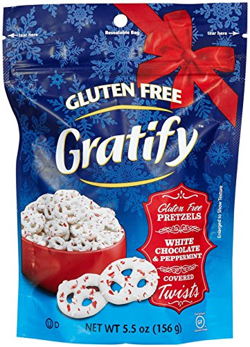 Gratify Gluten Free Pretzels-White Chocolate & Peppermint Covered Twists-5.5 oz