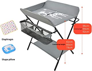 Gray-Multifunctional Crib,Style For Home Travel Portable Bassinet For Baby,Baby Changing Table, Baby Care Table Baby Room Operation Table, Touch Table, Portable Folding Diaper Station