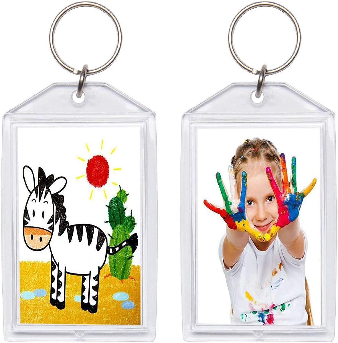 Snap-in Custom Personalised Insert Photo Acrylic Blank Keyring Keychain Wholesale(Size:2
