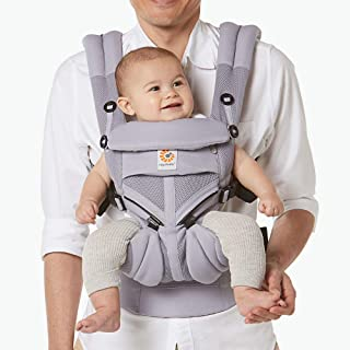 Ergobaby Carrier, Omni 360 All Carry Positions Baby Carrier with Cool Air Mesh, Lilac Grey (BCS360PLILAC)