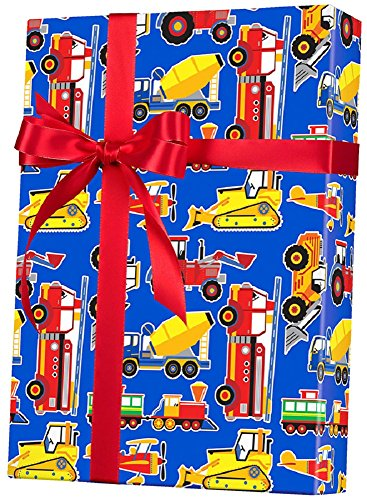 Toy Trucks Big Rig Rolled Gift Wrap Paper - 24' x 15'