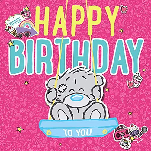 Me to You Dinky Bear 3D Karte Happy Birthday