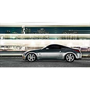 Nissan 370Z NISMO 370 Z34 Silver Left Front 2 HD Poster Sports Car 18 X 12 Inch Print