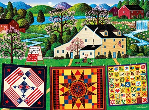 Buffalo Games Charles Wysocki The Quiltmaker Lady 1000 Piece Jigsaw Puzzle product image