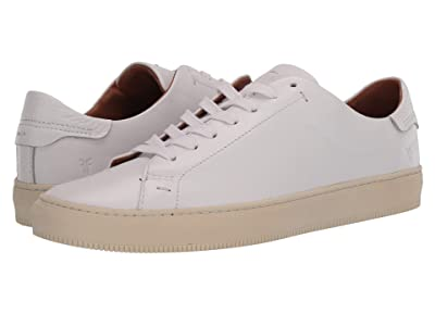 Frye Astor Low Lace (White Tumbled Cow) Men