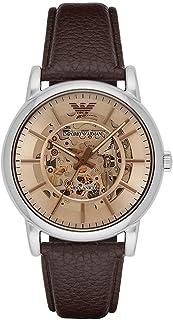 ساعة معصم جينتس للرجال من امبوريو ارماني، بلون بني