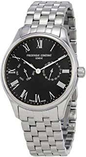 Frederique Constant Classics Black Dial Stainless Steel Men's Watch FC-259BR5B6B