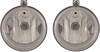 CarLights360: Fits 2011 2012 2013 2014 DODGE CHALLENGER Fog Light R=L W/Bulbs (NSF Certified) Replaces CH2592142 CH2592142
