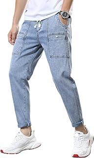 Casual joggingbroek met halfhoge taille voor heren, joggingbroek met trekkoord in effen kleur, slim-fit hiphop-harembroek,...