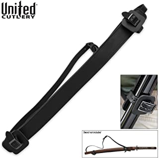 Universal Fully Adjustable Faux Leather Shoulder Harness Sheath for Sword Or Katana - Scabbard Adjusts from 1