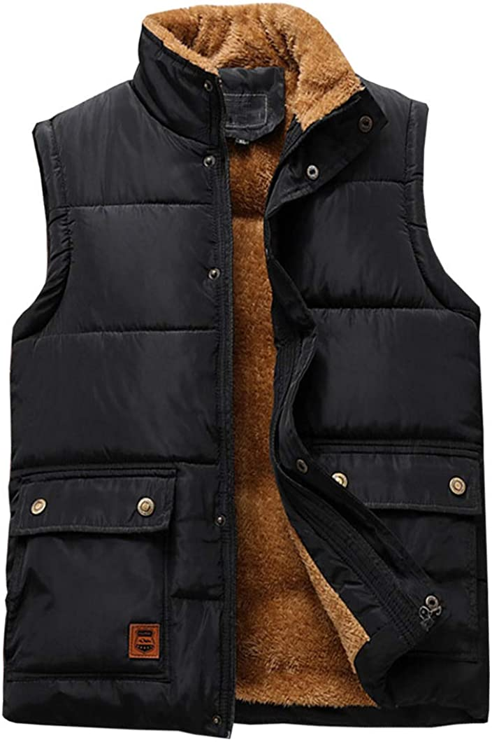 Duyang Men's Winter Outdoor Cotton Padded Vest Quilted Fl Puffer El Paso Mall Milwaukee Mall