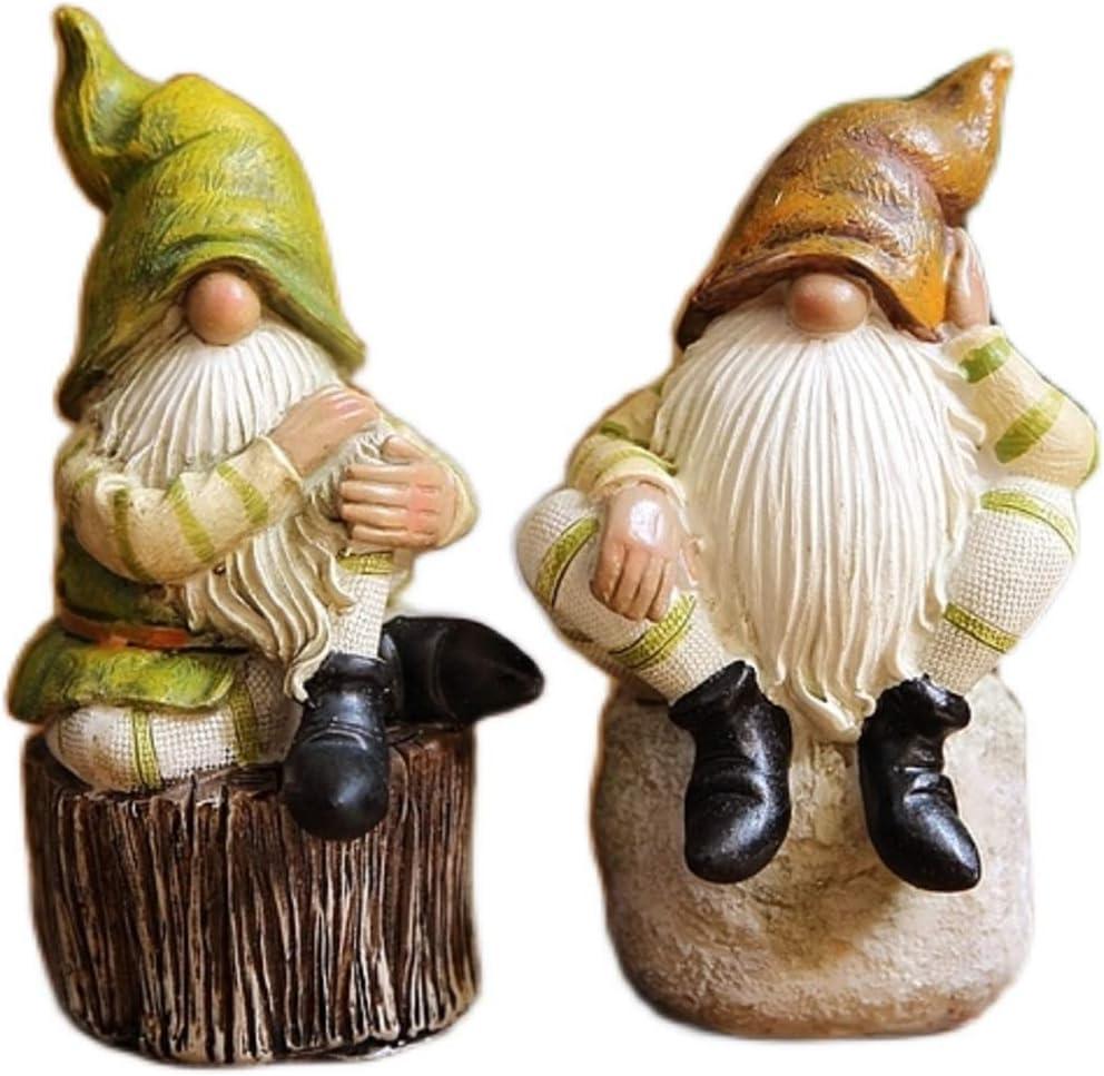 ZCQBCY Elf Resin Statue Figurine Max 83% OFF Super sale period limited Grandpa Statuette Beard Old Scu