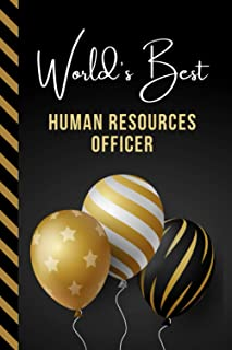 World's Best Human Resources Officer: Greeting Card and Journal Gift All-In-One Book! / Small Lined Composition Notebook /...