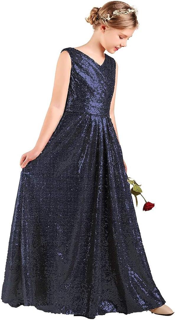 Long Junior Bridesmaid Dress Sequin 店舗 Formal Flower Girl 25%OFF We