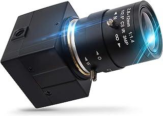 Camera USB 1080P USB Webcamera , 2MP HD Web Camera Low Illumination 0.01Lux Camera USB2.0 Cable , H.264 High Definition IMX322 Webcam With 2.8-12mm Varifocal Lens Web Cams