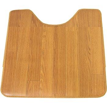 木目調サッと拭けるトイレマット55x60OK