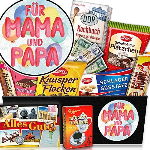 Für Mama & Papa + beste Eltern der Welt Geschenk + Schokolade DDR Geschenkidee