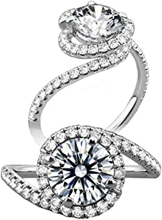 Best spiral halo engagement ring Reviews