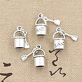20pcs Charms shover and Pail Beach Sand 15x8mm Antique Making Vintage Tibetan Silver Zinc Alloy Pendant
