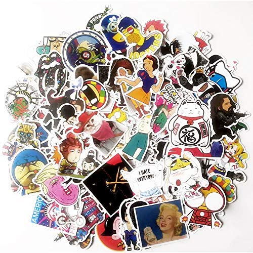 WYJW 100 waterdichte koffer stickers Doodle telefoon shell computer gitaar sticker skateboard