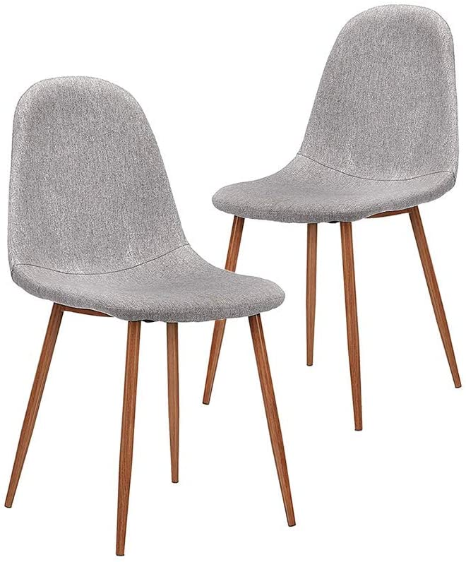 CangLong Dining Chairs Set of 2 Cushion Seat Back Mid specialty shop Philadelphia Mall Fabric C