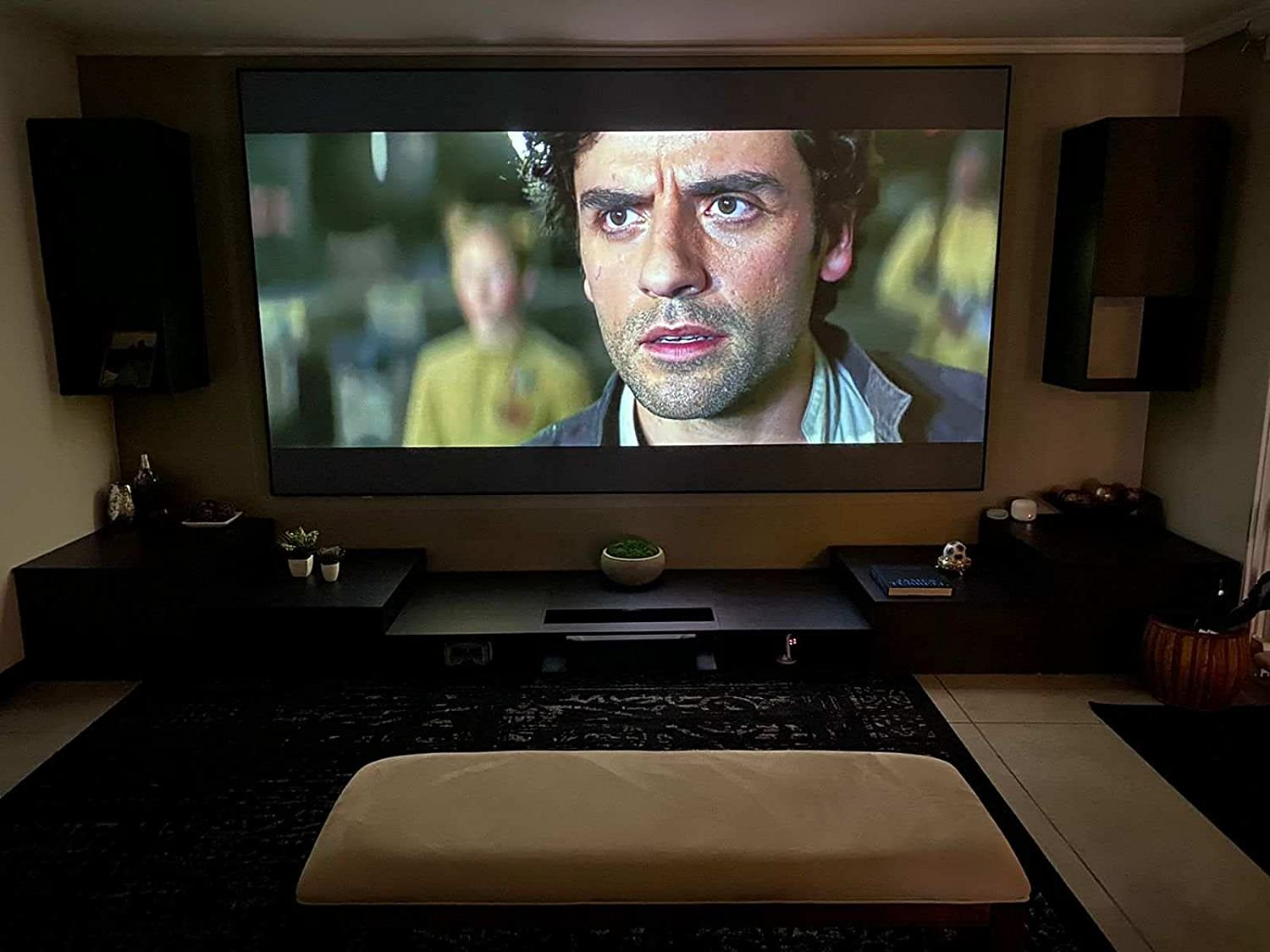 4k Ultra Short Throw t-Prism ust CLR Screen 16:9 Ceiling Light Rejecting Projection Screen for Ultra Short Throw Projector Fixed Frame Screen for Home Theater, Boardroom (120inch)