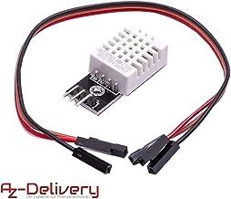 AZDelivery DHT22 AM2302 Temperatursensor und Luftfeuchtigkeitssensor mit Platine und Kabel kompatibel mit Arduino inklusive E-Book!
