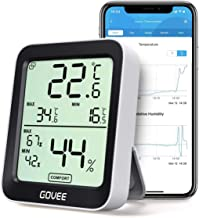 Govee Thermometer Hygrometer, Mini LCD Digitale thermometer Hygrometer Indoor met meldingsalarm, Nauwkeurige hygrometer Te...