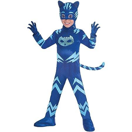 Amscan - Disfraz PJ Mask Cat Boy Luxe - Talla para 5-6 años - Multicolor - Modelo n. 7AM9902965