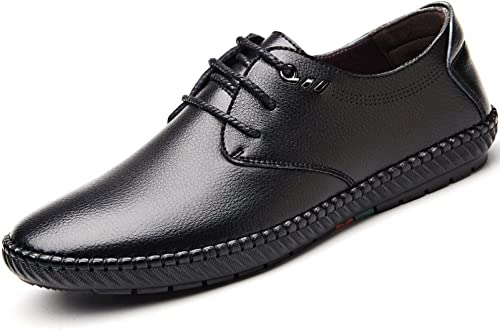 DHFUD Frühling Herren Leder Business Casual Schuhe Koreanische Spitze Papa Schuhe