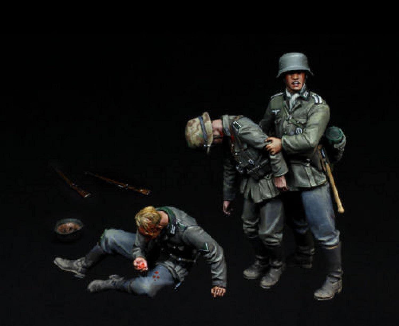 Risjc 1 35 World War II German Soldier 3 Resin Wounded Product Model Pe Las Vegas Mall