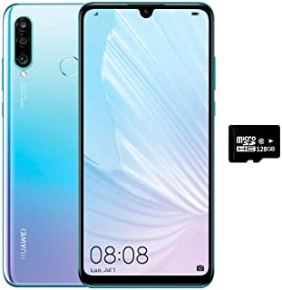 "Huawei P30 Lite (256GB, 6GB) 6.15"", 48MP Triple Camera, 32MP Selfie, Dual SIM GSM Unlocked 4G LTE (T-Mobile, AT&T, Metro) International Version MAR-LX3Bm (Breathing Crystal,128GB SD Bundle)"