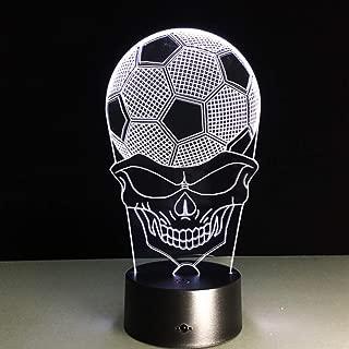 Football Skull 3D Night Light Desk LED USB Lamp Lampada Party Xmas Gift Table Child Kids Touch Lighting Soccer Gift