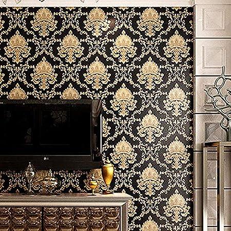 Gold Hintergrund Luxus Geprägt Textur Metallisch Damast Tapete für Wand Rolle