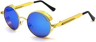 نظارات شمسية دائرية من RONSOU للنساء والرجال نظارات شمسية بإطار معدني كلاسيكي دائري عتيق نظارات