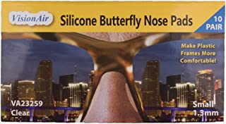 Adhesive Anti-Slip Silicone Butterfly Nose Pads for Glasses, Sunglasses, and Eye Wear..