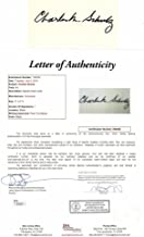 Charles Schulz Signed - Autographed 3x5 Inch Index Card - Peanuts, Snoopy, Charlie Brown Creator - Artist - FULL Letter of Authenticity - Deceased 2000 - Charles M. Schulz - JSA Certified